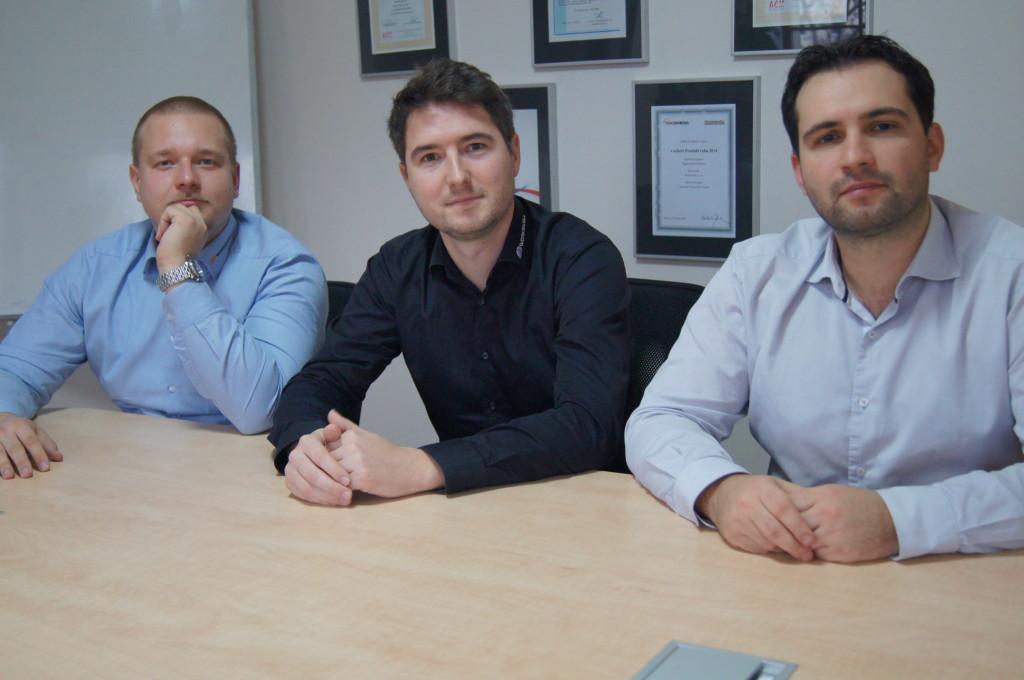 Společníci společnosti Workswell s.r.o. (zleva) Jan Sova, Adam Švestka a Jan Kovář.